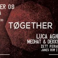 'Together' organiseert techhouse en techno evenementen